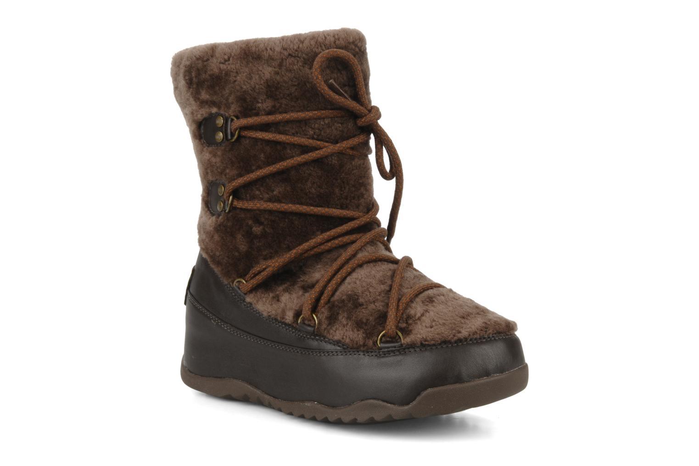 Bottines et boots FitFlop Super blizz Marron vue détail/paire