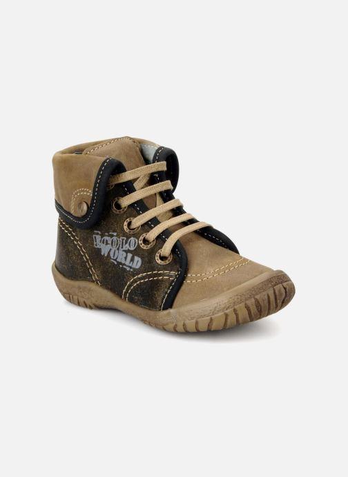 Boots en enkellaarsjes Noël Mini fizz Bruin detail