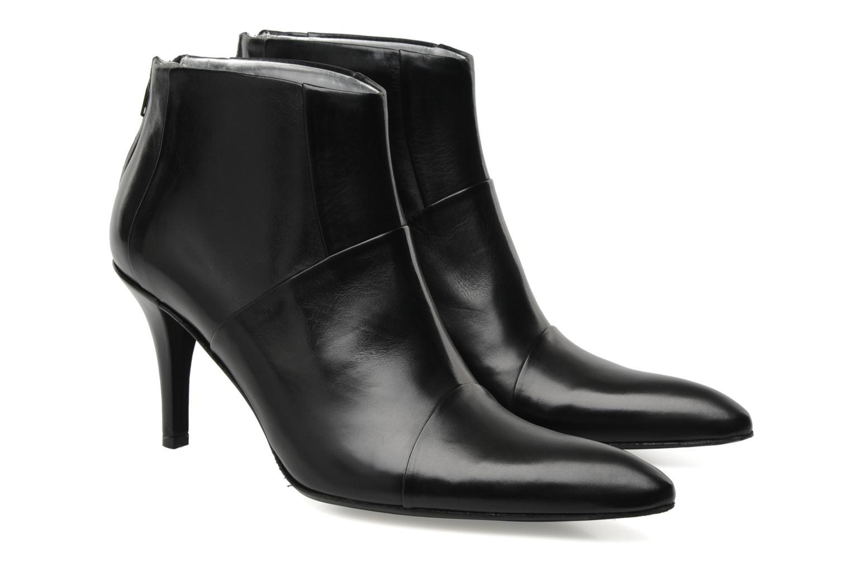 Bottines et boots Free Lance Jaspe 7 low zip boot Noir vue 3/4