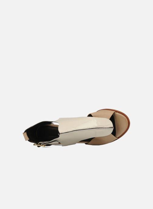 Sandalen Tila March Sandal patch Beige links