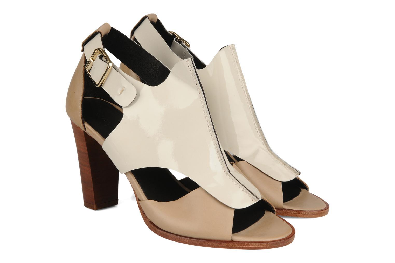 Sandales et nu-pieds Tila March Sandal patch Beige vue 3/4