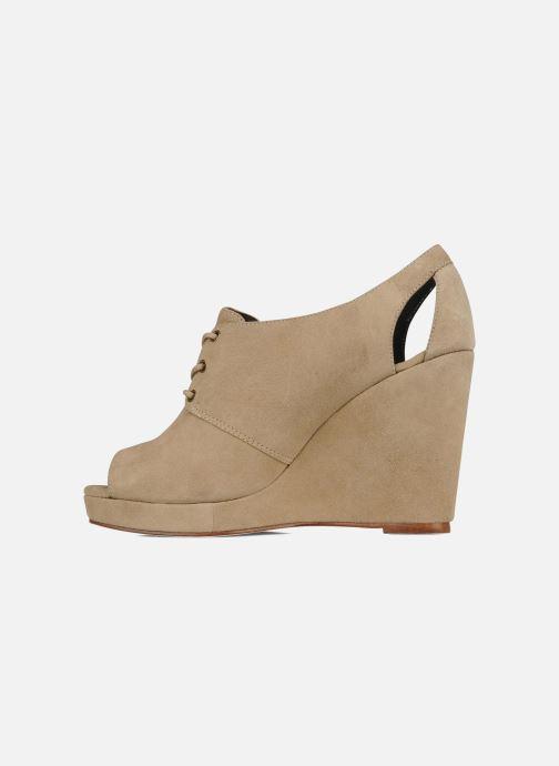 Zapatos con cordones Tila March Wedge derby Beige vista de frente