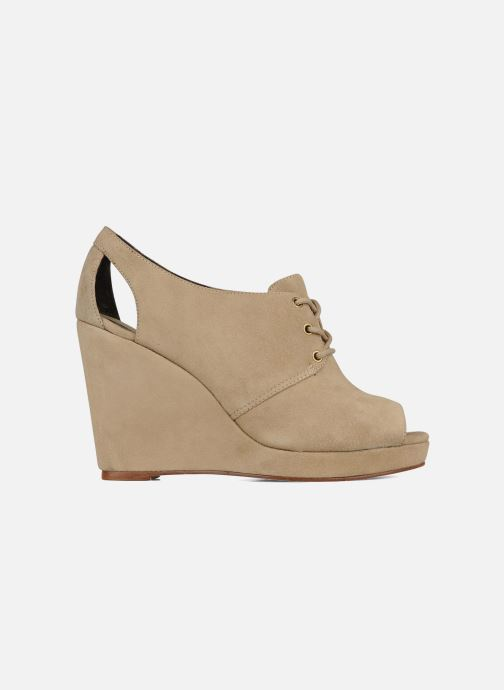Lace-up shoes Tila March Wedge derby Beige back view