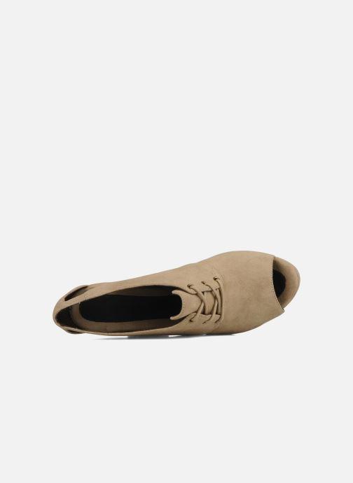 Zapatos con cordones Tila March Wedge derby Beige vista lateral izquierda