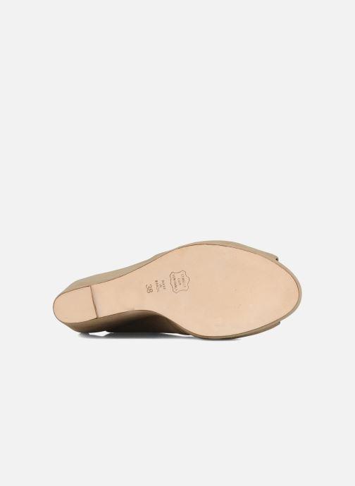Chaussures à lacets Tila March Wedge derby Beige vue haut