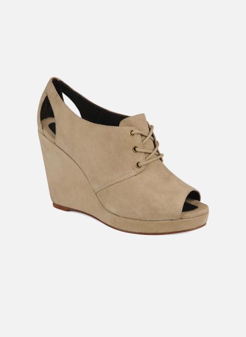 Chaussures à lacets Tila March Wedge derby Beige vue détail/paire