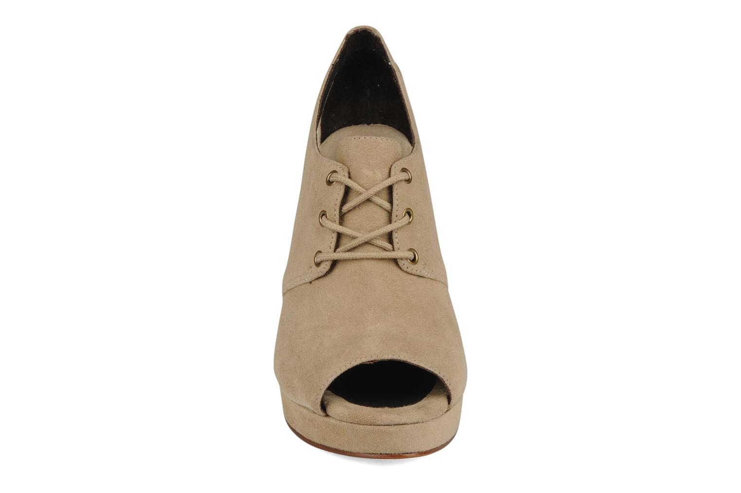 Lace-up shoes Tila March Wedge derby Beige model view