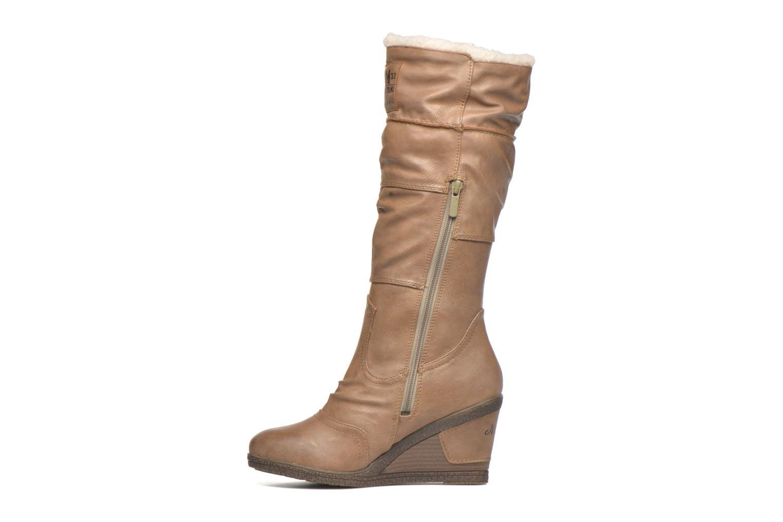 Bottes Mustang shoes Jessia Beige vue face