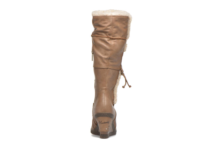 Bottes Mustang shoes Jessia Beige vue droite