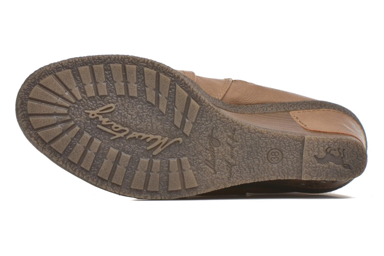 Bottes Mustang shoes Jessia Beige vue haut