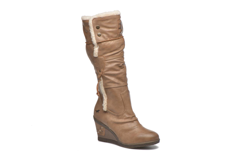 Bottes Mustang shoes Jessia Beige vue détail/paire