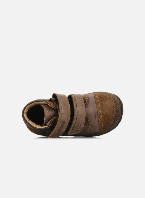 Zapatos con velcro Mod8 Rado Marrón vista lateral izquierda