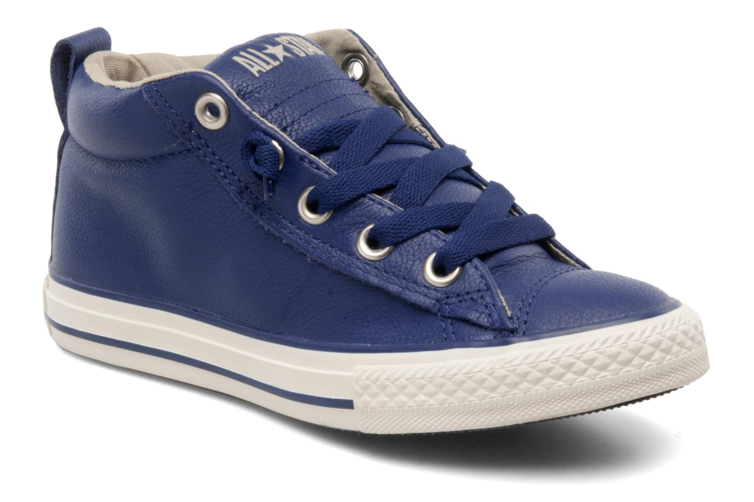 1c2d9ce5896 Converse Chuck taylor all star street leather mid k (Blue ...