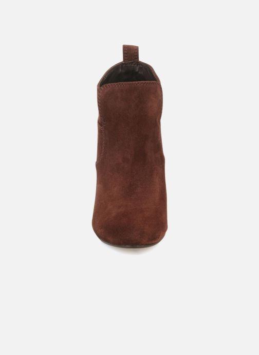 Boots en enkellaarsjes Tila March Wedge booty stitch suede Bordeaux model