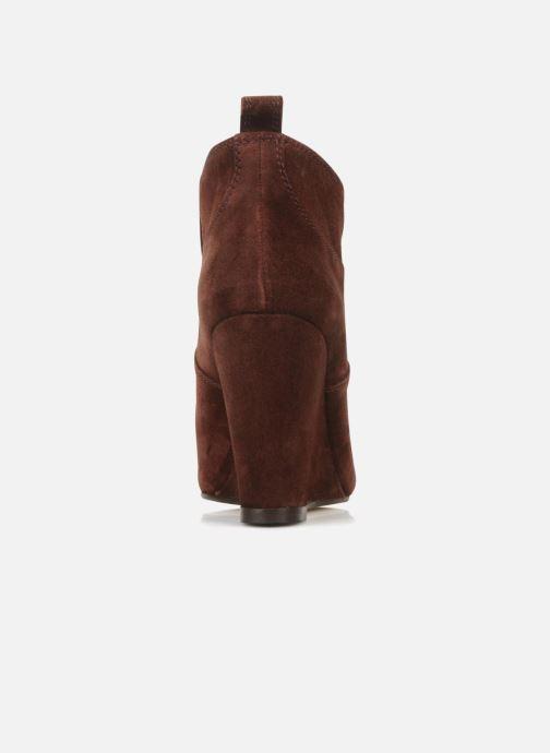 Boots en enkellaarsjes Tila March Wedge booty stitch suede Bordeaux rechts