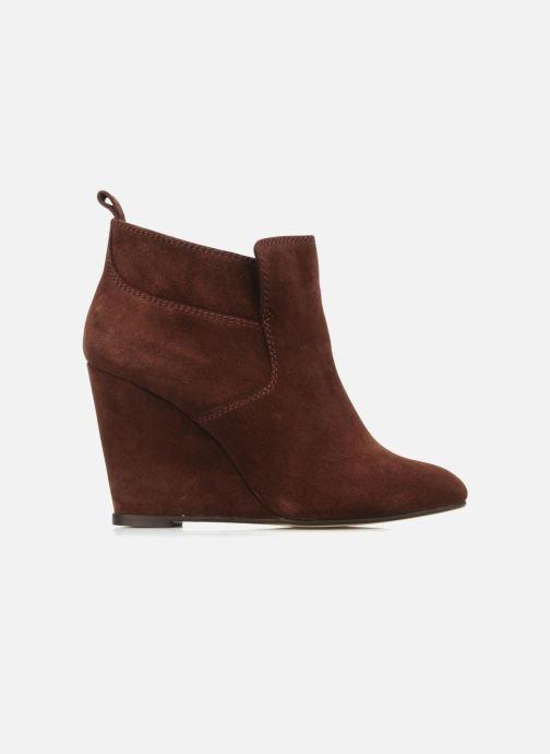 Boots en enkellaarsjes Tila March Wedge booty stitch suede Bordeaux achterkant