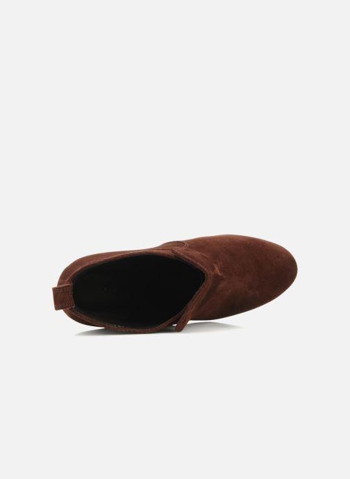 Bottines et boots Tila March Wedge booty stitch suede Bordeaux vue gauche