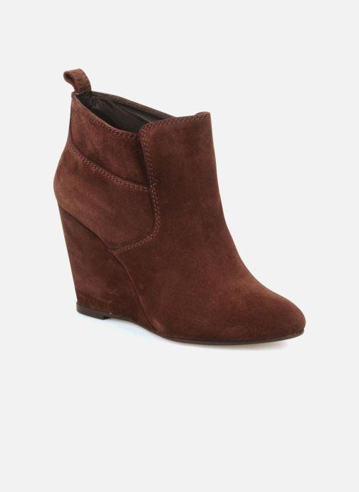 Boots en enkellaarsjes Tila March Wedge booty stitch suede Bordeaux detail