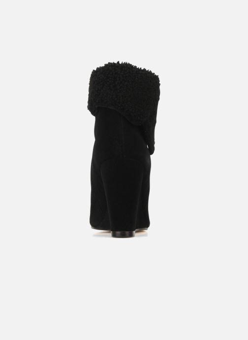 Bottines et boots Tila March Wedge booty origami sherling Noir vue droite