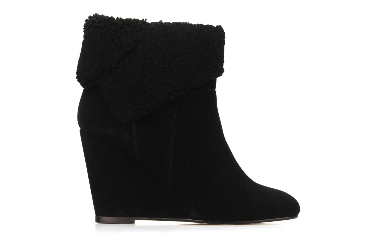 Ankle boots Tila March Wedge booty origami sherling Black back view
