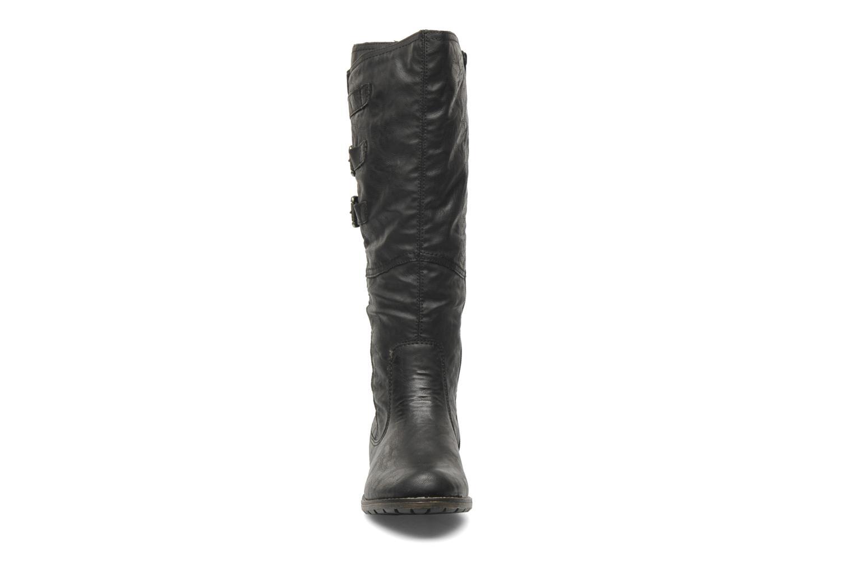 Bottes Remonte Lamm R3370 Noir vue portées chaussures