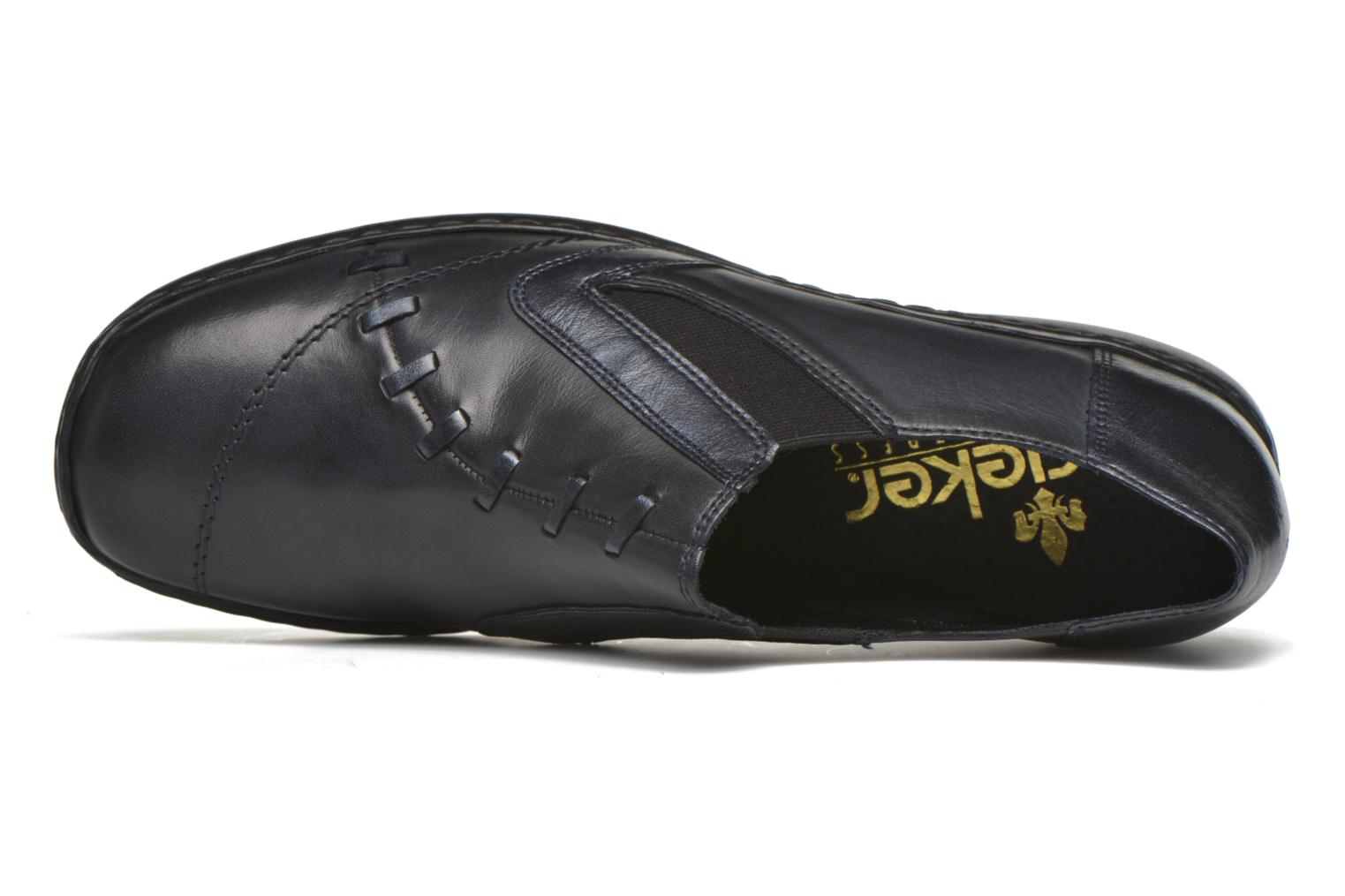 Loafers Rieker Doro L3874 Blue view from the left
