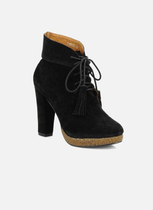 2d9a35797a71 Ankelstøvler Friis   company Belinda Sort detaljeret billede af skoene
