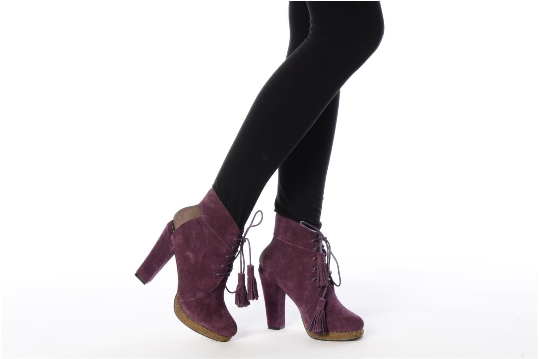 Bottines et boots Friis & company Belinda Violet vue bas / vue portée sac
