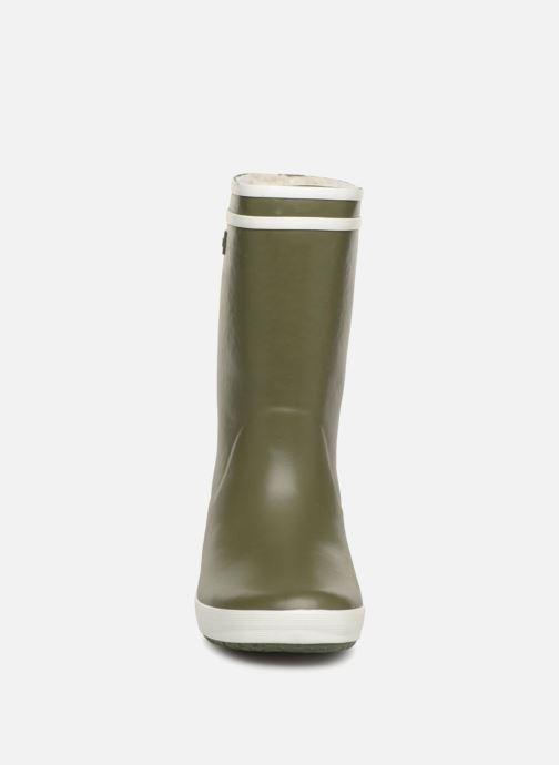 Bottes Aigle Lolly Pop Fur Vert vue portées chaussures