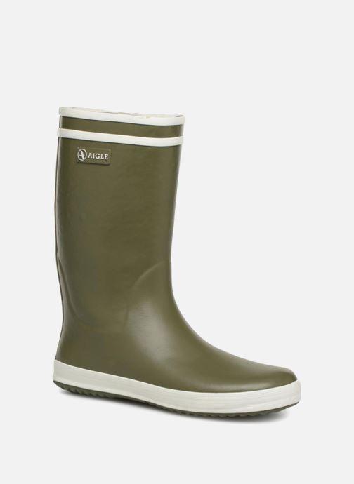 Støvler & gummistøvler Aigle Lolly Pop Fur Grøn detaljeret billede af skoene