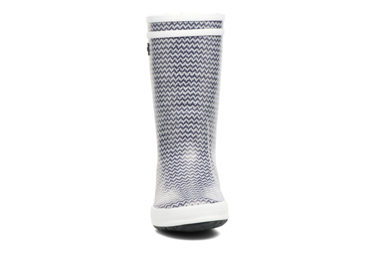Bottes Aigle Lolly Pop Fur Bleu vue portées chaussures