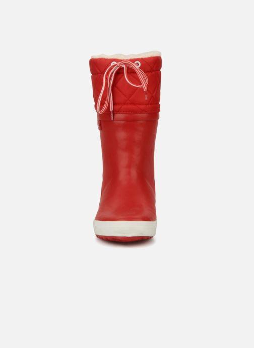Stivali Aigle Giboulée Rosso modello indossato