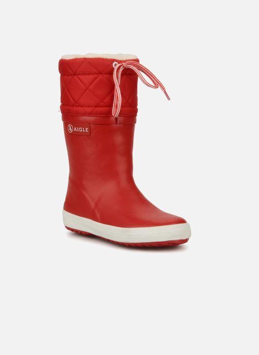 Stiefel Aigle Giboulée rot detaillierte ansicht/modell