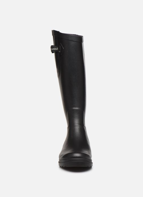 Bottes Aigle Aiglentine Noir vue portées chaussures