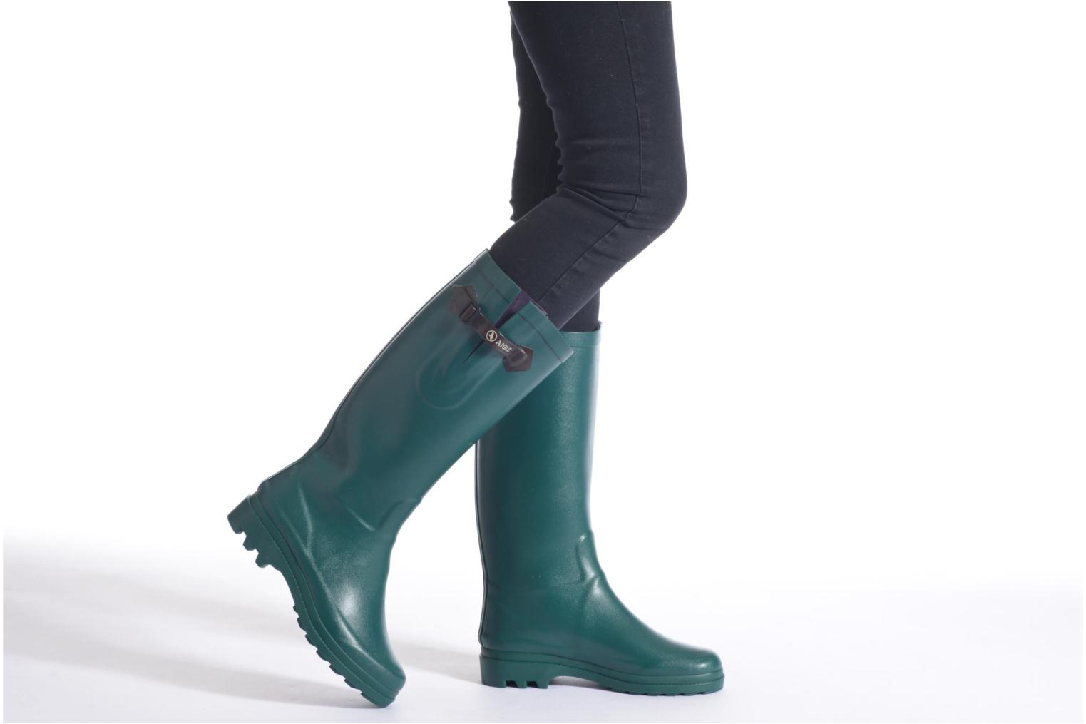 Boots & wellies Aigle Aiglentine Brown view from underneath / model view