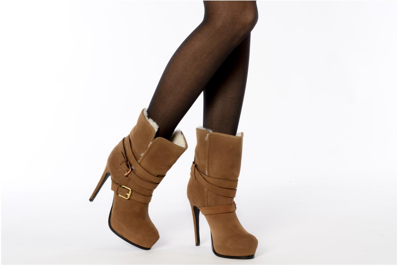 Bottines et boots Pour La Victoire Lizzie Marron vue bas / vue portée sac