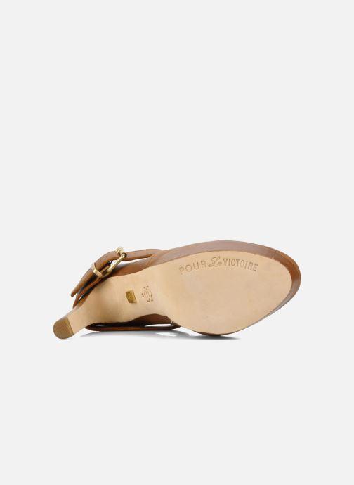 Bottines et boots Pour La Victoire Amael Marron vue haut