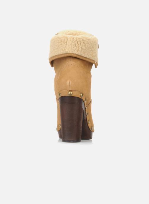 Ankle boots No Name Mikonos boots fur Beige back view