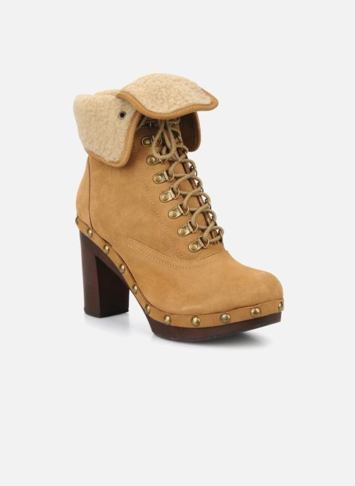 Ankle boots No Name Mikonos boots fur Beige detailed view/ Pair view