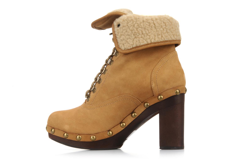 Bottines et boots No Name Mikonos boots fur Beige vue droite