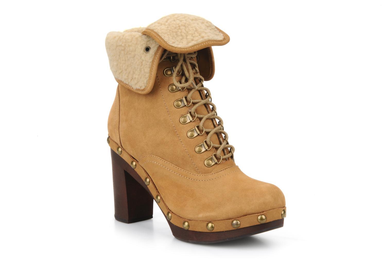 Bottines et boots No Name Mikonos boots fur Beige vue détail/paire