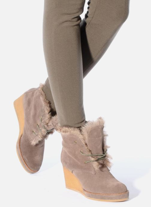 Ankle boots No Name New aki crepe desert botte Beige view from underneath / model view