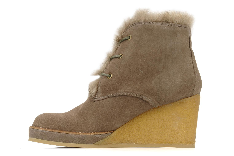Bottines et boots No Name New aki crepe desert botte Beige vue face