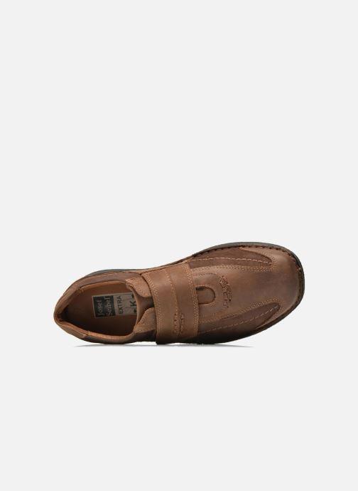 Zapatos con velcro Josef Seibel Alec Marrón vista lateral izquierda