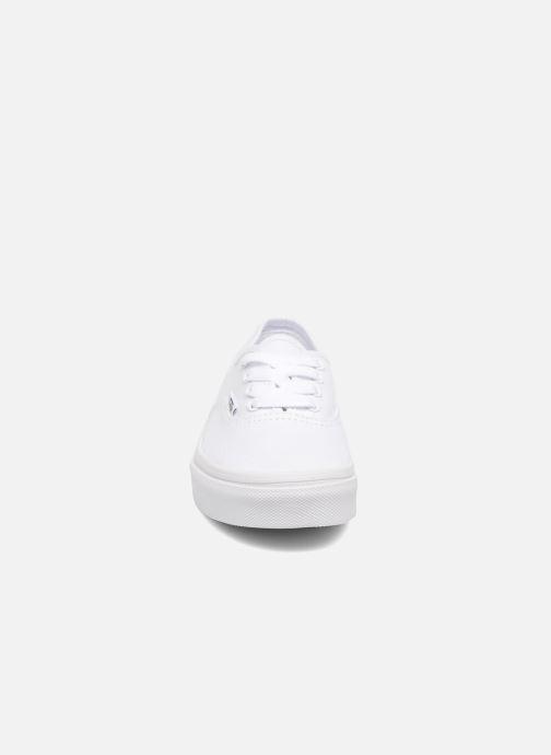 Deportivas Vans Authentic E Blanco vista del modelo