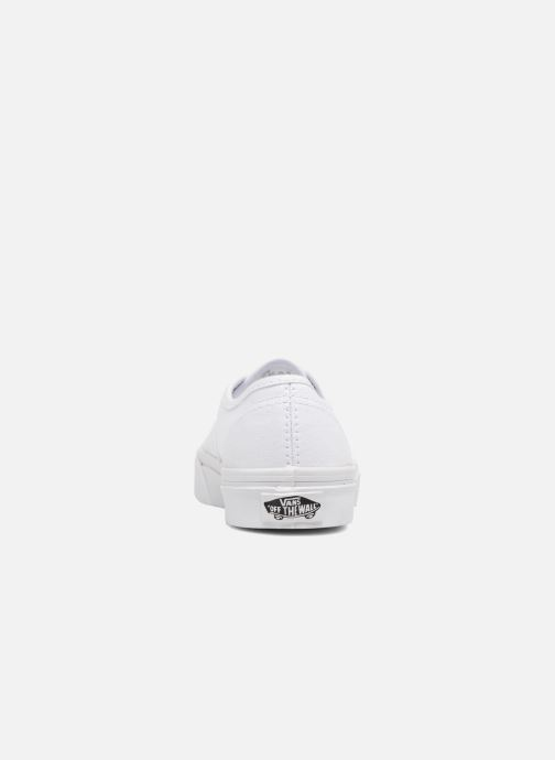 Baskets Vans Authentic E Blanc vue droite