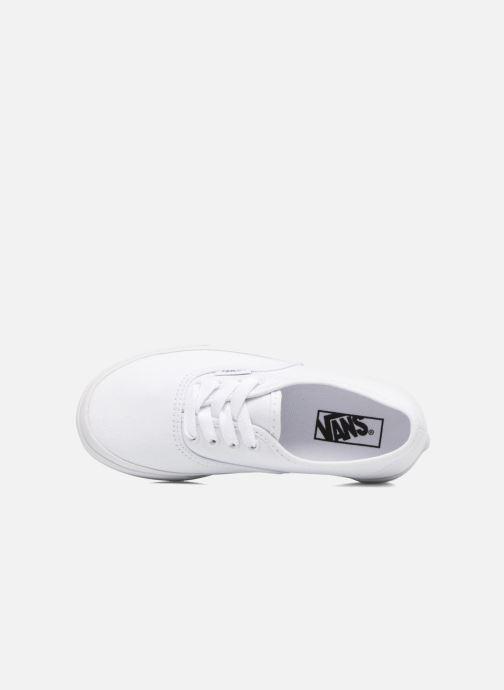 Baskets Vans Authentic E Blanc vue gauche