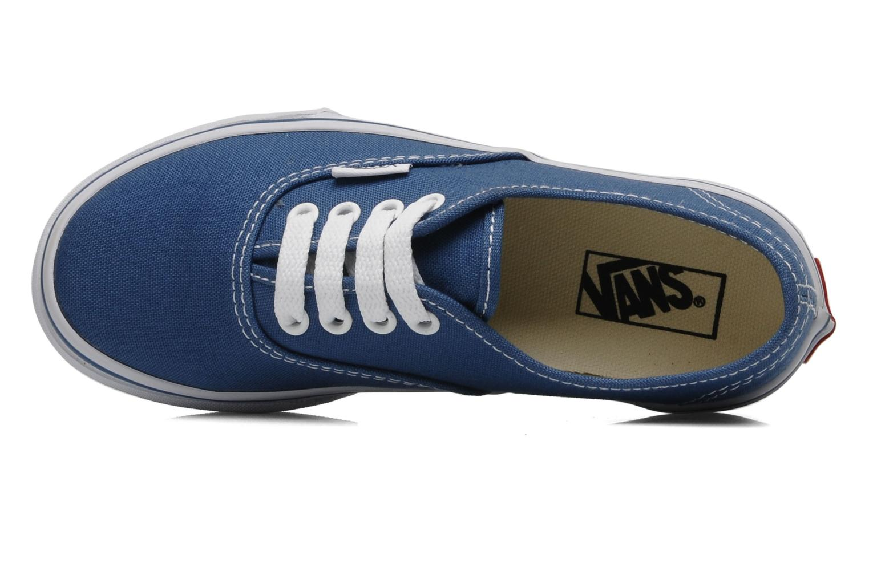 Baskets Vans Authentic E Bleu vue gauche
