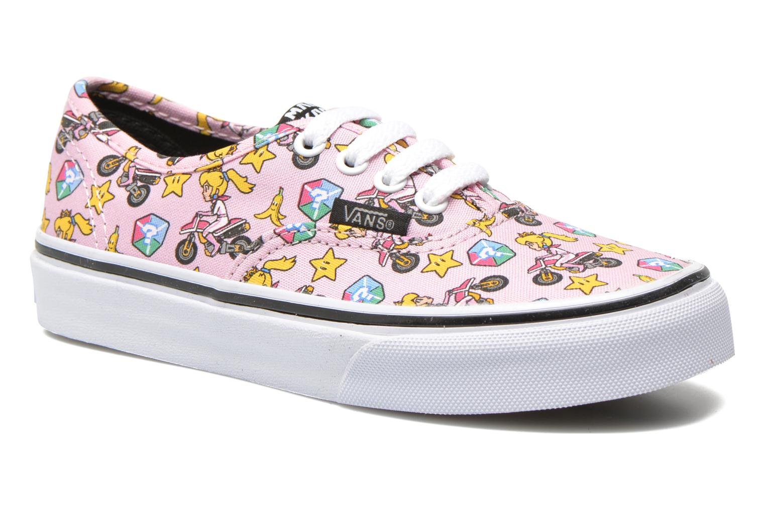 Baskets Vans Authentic E Rose vue détail/paire