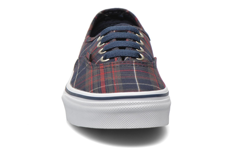 Baskets Vans Authentic E Bleu vue portées chaussures